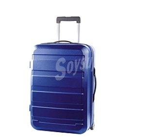 Productos Económicos Alcampo Maleta de 2 ruedas abs, Rígida, color azul marino Medidas: 63x41x26