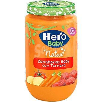 HERO BABY tarrito de ternera con zanahorias 100% natural envase 235 g