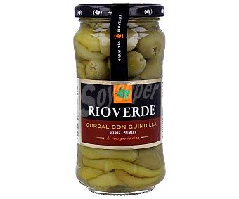 RIOVERDE Aceituna gordal con guindilla al vinagre de vino 180 g (peso neto escurrido)
