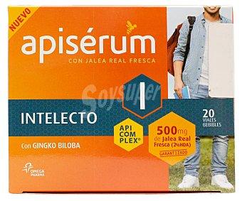 Apiserum Jalea real fresca con gingko biloba en viales bebibles intelecto 20 uds