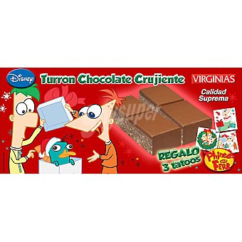 VIRGINIAS DISNEY Turrón de chocolate crujiente Tableta 200 g