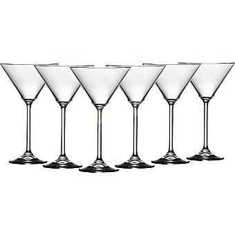 CASACTUAL Bohemia Copas de Martini de cristal 30 cl set de 6 unidades 30 cl