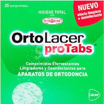 ORTOLACER Tabletas limp 20U