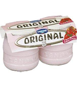 Original Danone Yogur sabor fresa enriquecido 'original 1919' Pack de 2x135 g