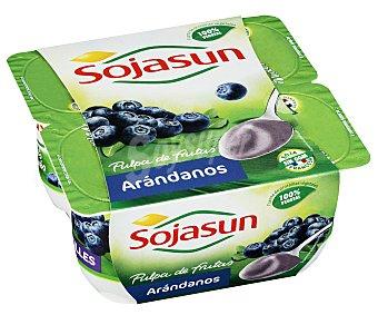 Sojasun Yogur de soja con arándanos 4 unidades de 100 gramos
