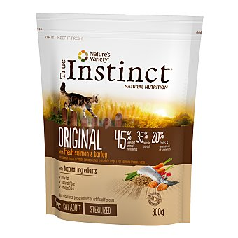 True Instinct Pienso para gatos adultos esterilizados True Instinct Original salmón 300 gr