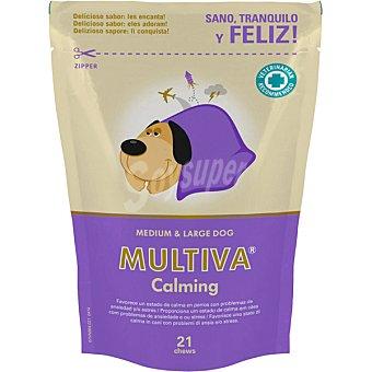 Multiva calming suplemento nutricional para perros en período de estrés raza media y grande  envase 21 unidades