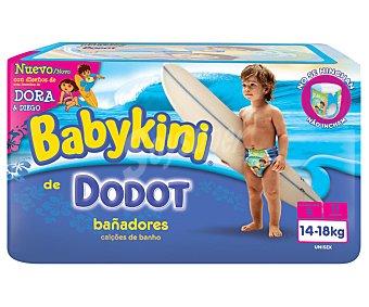 Dodot Pañales bañador talla 5 para niños de 14 a 18 kilogramos 11 unidades