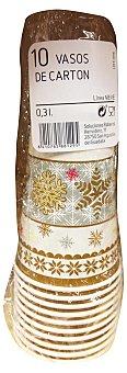 Casa Ambiente Vaso desechable carton lila decoracion estrellas *navidad* Paquete 10 u