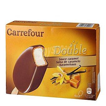Carrefour Helado bombón doble caramelo 4 ud