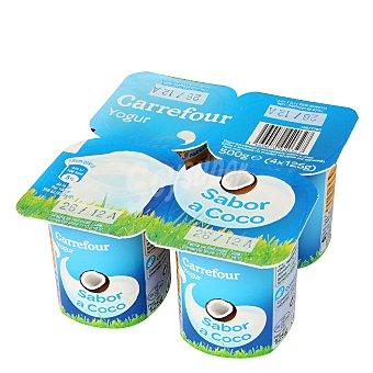 Carrefour Yogur sabor coco Pack 4x125 g