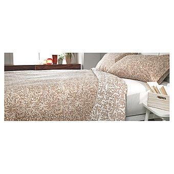 CASACTUAL Classic funda nórdica estampada en color beige para cama 135 cm