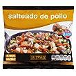 Salteado verduras con pollo ( pechuga pollo,patata,zanahoria,calabacin,guisantes,cebolla) congelado Paquete 450 g Hacendado