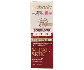 Babaria Borrador óptico con rosa mosqueta para alisar la arrugas, atenúa las imperfecciones y evita los brillos 30 mililitros