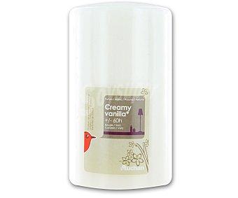 AUCHAN Vela cilíndrica perfumada de 70x115 milímetros y con olor suave vainilla 1 Unidad