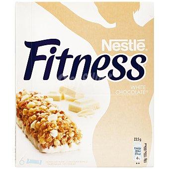 Fitness Nestlé Barritas de cereales chocolate blanco Caja 6 uds 141 gr