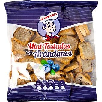Panadería Los Compadres Mini tostadas con arandanos Paquete 100 g