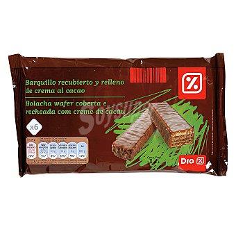 DIA Barquillo recubierto y relleno de crema al cacao Bolsa 120 gr