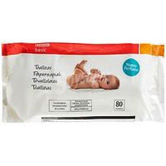 Eroski Basic Toallitas bebé Paquete 80 unid
