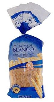 Hacendado Pan molde blanco  Paquete 460 g ( 16 rebanadas )