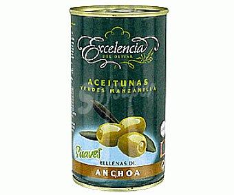 Excelencia Aceitunas rellenas de anchoa, 150 gramos