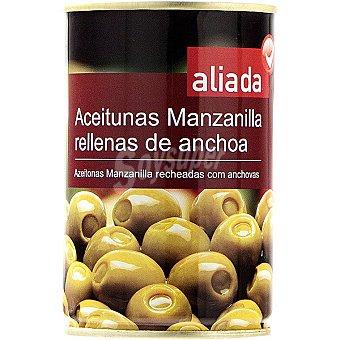 Aliada Aceitunas manzanilla rellenas de anchoa Lata 130 g neto escurrido