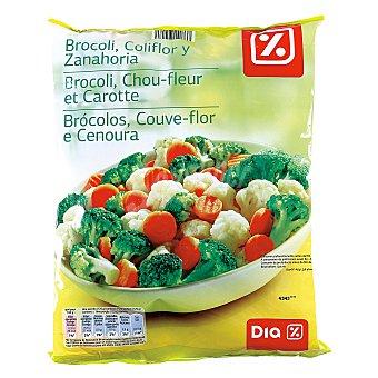 DIA Brócoli, coliflor y zanahoria  Bolsa 1 kg