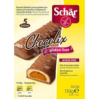 Schär Barritas de cereales Chocolix con caramelo y chocolate sin gluten 5 unidades (110 g)