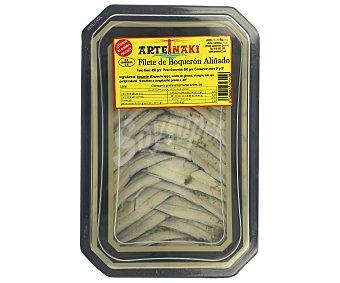 Arteiñaki Filetes de bloquerón en aceite de girasol con ajo y perejil 500 g