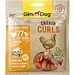 Snacks para perros curls de pollo envase 55 G Envase 55 g Gimdog