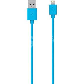 Belkin Cable de carga y sincronización de Lightning a USB en color azul