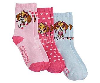 Patrulla Canina Lote de 3 pares de calcetines de niña talla 23/26 talla 23/26.