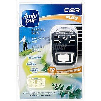 AMBIPUR CAR Ambientador de coche Respira fresca fragancia de eucalipto aparato + recambio