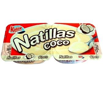 Kalise Natillas de Coco 2 Unidades de 135 Gramos