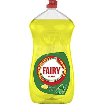 Fairy Ultra lavavajillas a mano concentrado limón Botella 1190 ml