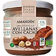 crema de avellanas con cacao ecológica envase 330 g Amandin