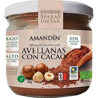 AMANDIN crema de avellanas con cacao ecológica envase 330 g