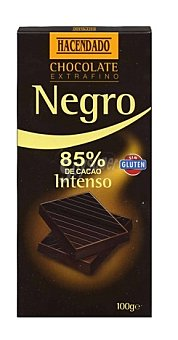 Hacendado Chocolate negro 85 % intenso  Tableta de 100 g