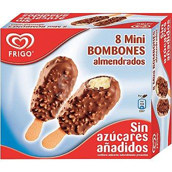Frigo Minibombón almendrado de helado de vainilla sin azúcares añadidos estuche 480 ml 8 unidades