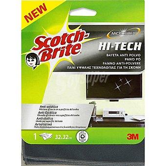 Scotch Brite Bayeta microfibra hi-tech anti-polvo 32x32 cm paquete 1 unidad Paquete 1 unidad