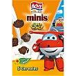 Super Wings mini galletas de chocolate 5 cereales y con aceite de girasol paquete 135 g Paquete 135 g Arluy
