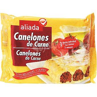 Aliada Canelones de carne con bechamel y queso estuche 300 g 3 unidades