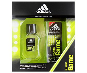 ADIDAS Pure Game Estuche: Eau de Toilette 50ml + gel de ducha 250ml 1 Unidad