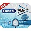 Oral B chicles sabor menta con flúor y sin azúcar Blister 10 unidades Trident