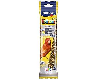 Vitakraft Alimento para canarios con sabor a multivitaminas 2 barritas de 60 g