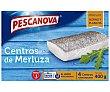 Merluza ultrancongelada, centros 400 g Pescanova