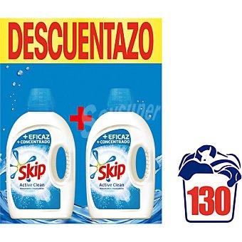 Skip Detergente máquina líquido Active Clean pack 2 botella 65 dosis caja 130 lavados caja 130 lavados