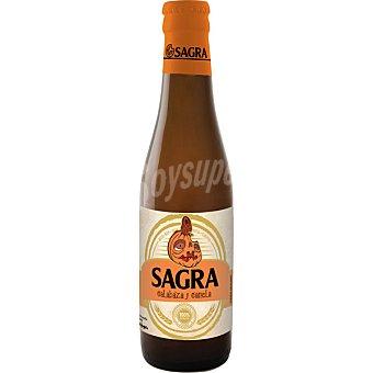 SAGRA HALLOWEEN Cerveza rubia con calabaza y canela  botella 33 cl
