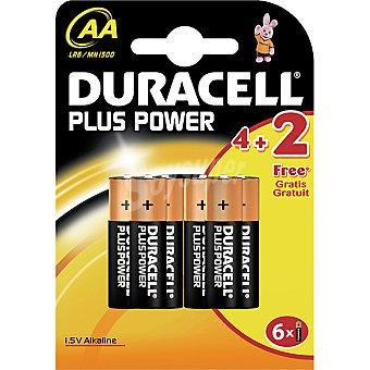 Duracell Pila Plus Power alcalina AA (lr6-mn1500) 1,5 voltios blister 4 unidades + 2 gratis 4 unidades + 2 gratis