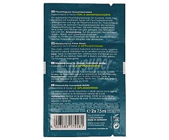 Aldo Vandini Mascarilla facial hidratante con caviar y ácido hialurónico Pack 2 u x 7.5 ml